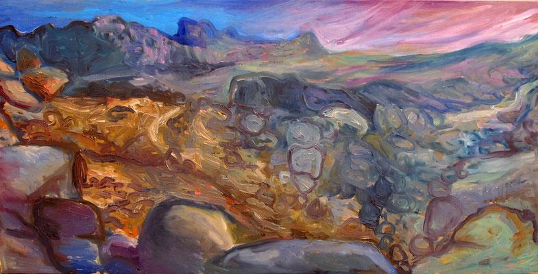 Sahara 17, 120x60cm, huile, 2010, Algérie