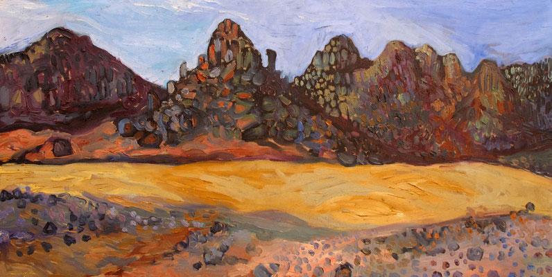 Sahara 13, 100x50cm, huile, 2010, Algérie