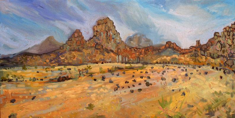 Sahara 12, 100x50cm, huile, 2010, Algérie