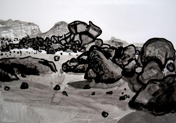 encre de chine 9, 42x59cm, 2010, Algérie