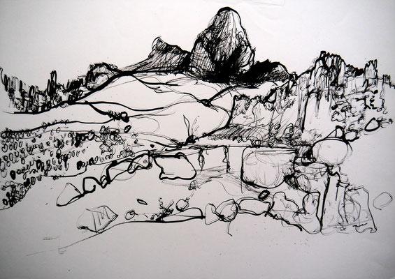 encre de chine 6, 42x59cm, 2010, Algérie