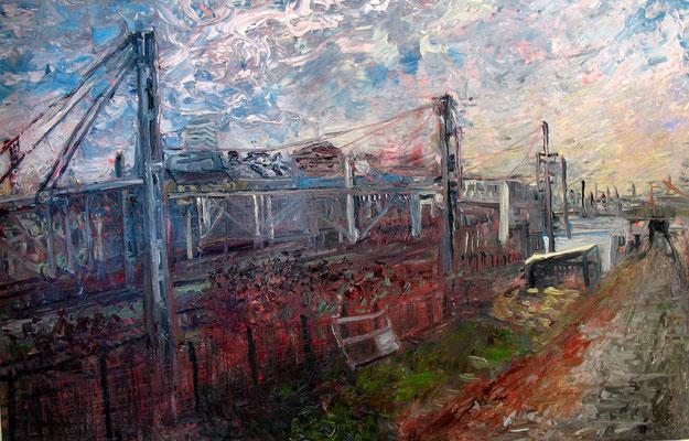gare de l'est 2, huile, 2009, vendu