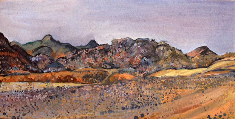 Sahara 16, 100x50cm, huile, 2010, Algérie