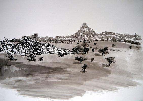 encre de chine 1, 42x59cm, 2010, Algérie