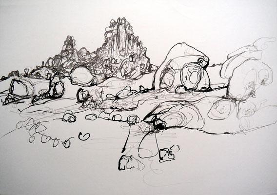 encre de chine 14, 42x59cm, 2010, Algérie