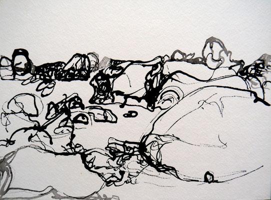 encre de chine 15, 30x21cm, 2010, Algérie
