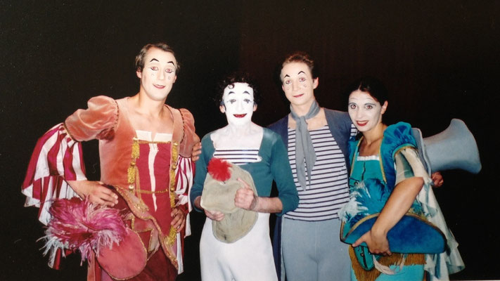 with Marcel Marceau and Gyongyi Biro