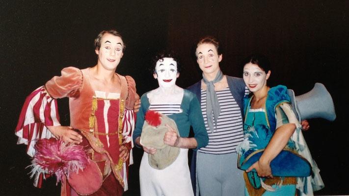 with Marcel Marceau and Gyongyi Biro