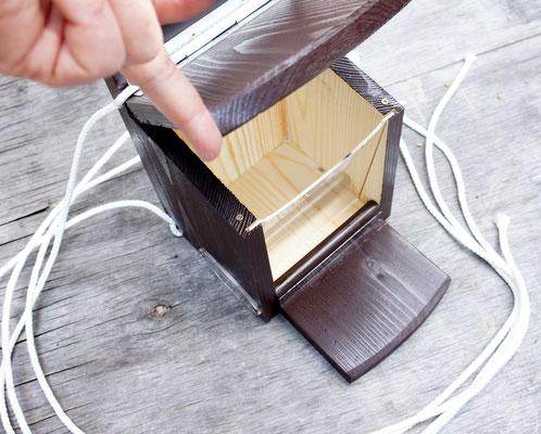 Арт белка - лёгкая крыша из дерева.