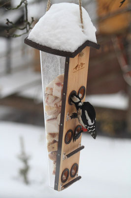 Омега - кормушка для подкормки большого количества птиц