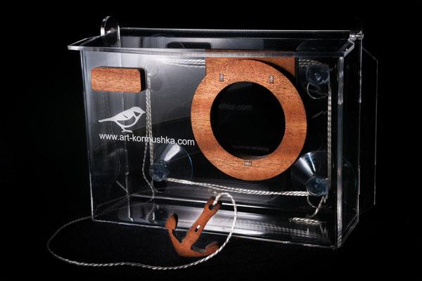 Оконная кормушка для птиц Арт фотокамера.