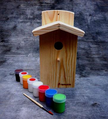 Синичник для росписи в наборе с красками и кистью