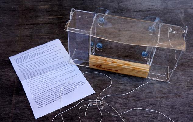 Оконная кормушка для птиц Казбек с инструкцией по установке.