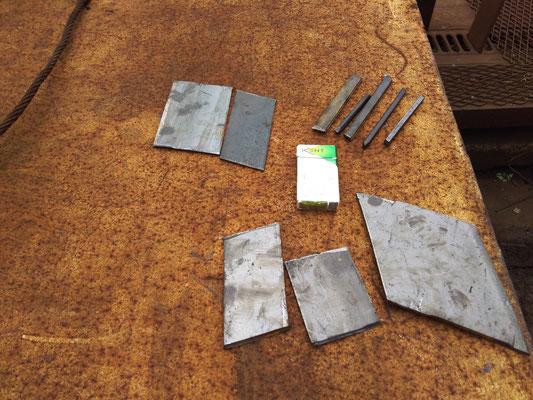 自社にてシャーリング加工を施した鋳造炉前品 お客様のご要望に応じて加工販売致します。