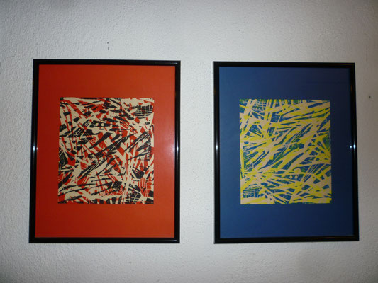 Holzdruckserie Blatt 5+6,  24 x 30 cm