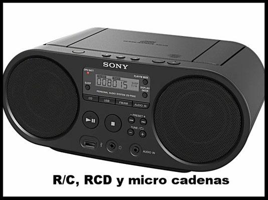 Radio cassete, radio cd's, micro cadenas...