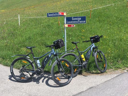 Unterwegs mit den E-Bikes