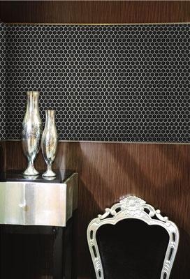 Mosaico 23x26 mm Esagoni NERO MAT