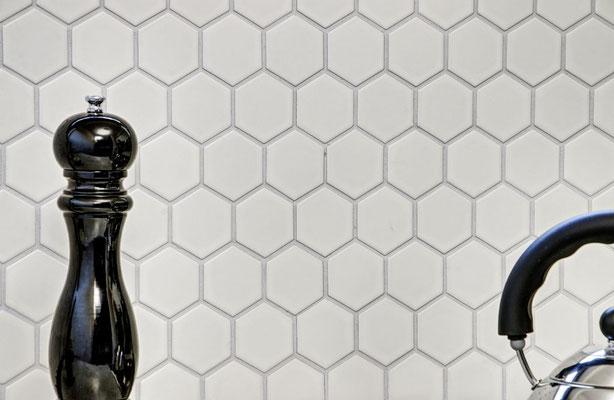 Mosaico 51x59 mm Esagoni BIANCO MAT