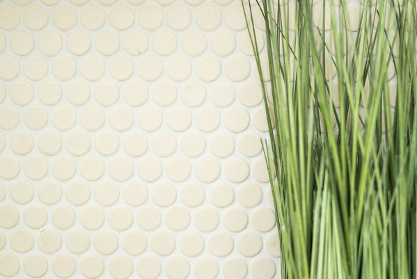 Mosaico Bottone BEIGE ANTISCIVOLO opaco