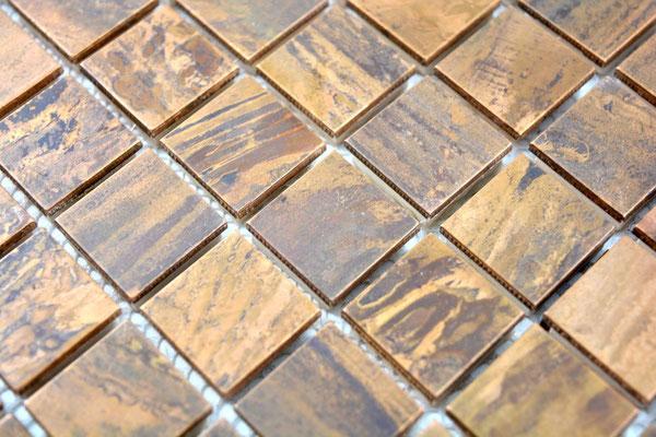 mosaico 23mm metallo rame