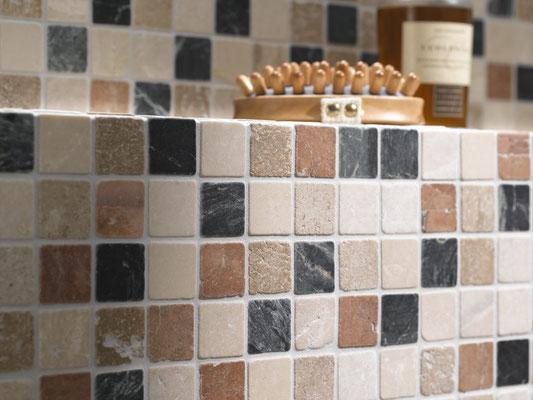 Mosaico Marmo 32mm Random anticato