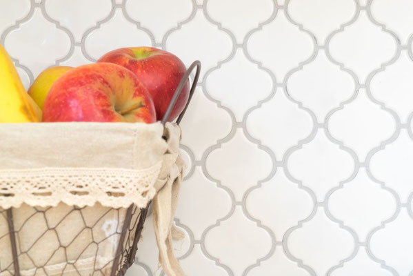 Mosaico in ceramica Firenze Bianco Lucido