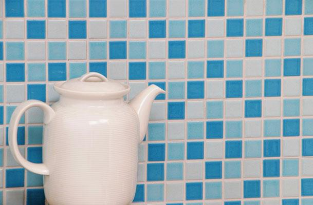 Mosaico 2,5x2,5 cm Mix Blu lucido