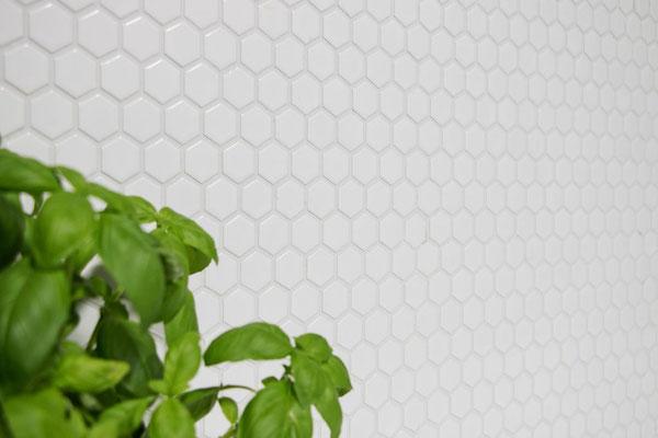 Mosaico 23x26 mm Esagoni BIANCO LUCIDO