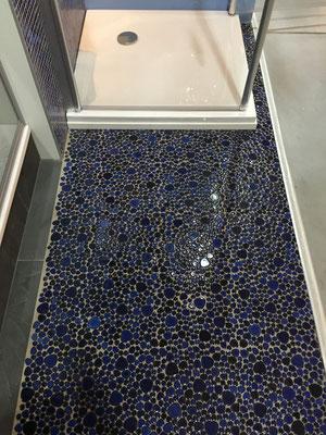 Mosaico Silex dimensione tessere 2-5 cm Blu Cobalto lucido