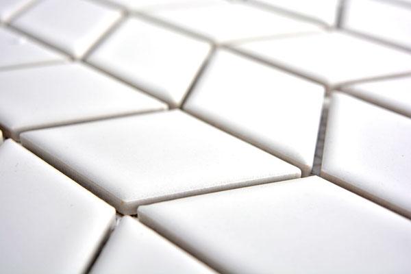 Mosaico Rombo Freccia Bianca lucido