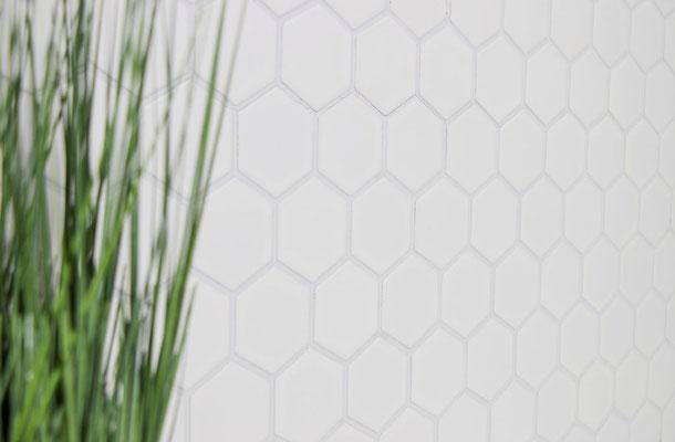 Mosaico 51x59 mm Esagoni BIANCO LUCIDO