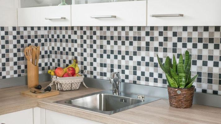 Mosaico Marmo 32mm Trix Bianco Grigio Nero anticato