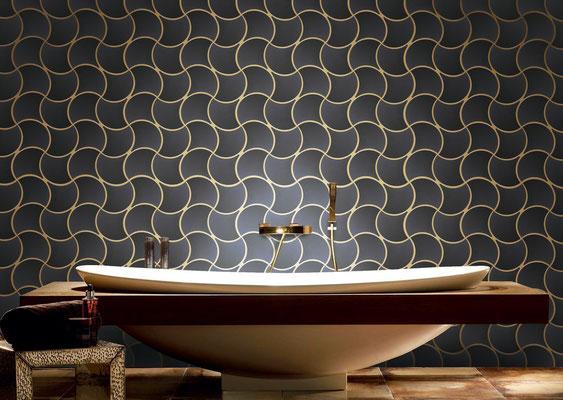 Mosaico in ceramica Pazzi Nero Lucido
