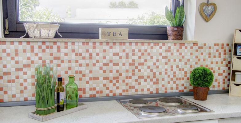 Mosaico 2,5x2,5 cm Mix Crema opaco