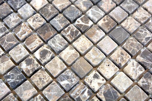 Mosaico marmo Emperador tessera 15mm