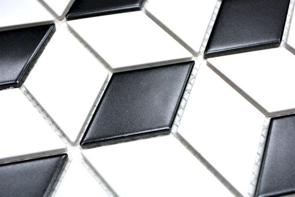 Mosaico Rombo Scacchi opaco