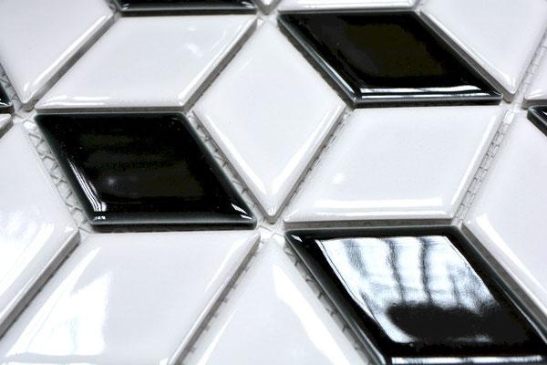 Mosaico Rombo Scacchi lucido