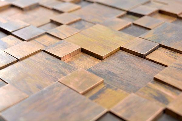 Mosaico in metallo rame effetto 3D