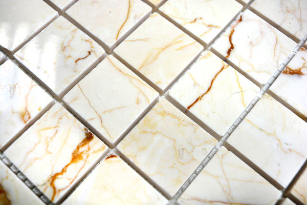 Mosaico 32mm Golden Cream lucido