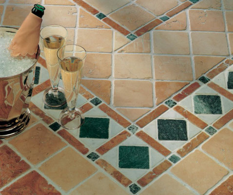 Pavimento in Rosso Verona e Rosa Perlino