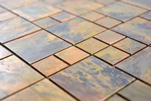 mosaico opus metallo rame
