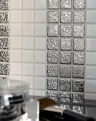 Mosaico 2,5x2,5 cm Argento