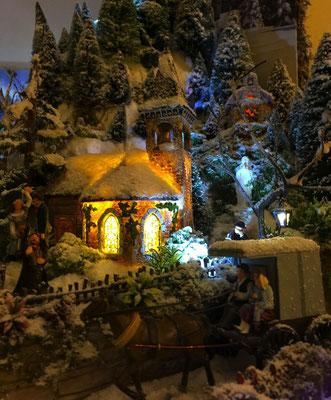 Village de Noël/Christmas Village 2014 de nuit: Bienvenue!
