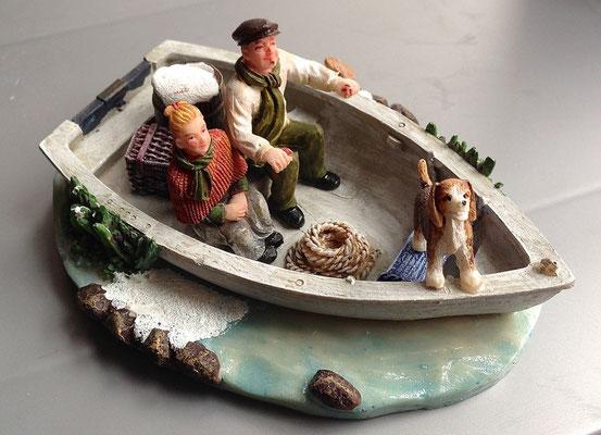 Family on boat - 610039 - vue 1