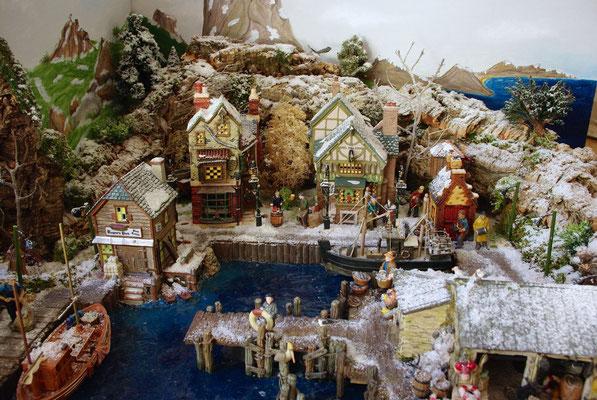 Village Noël/Christmas Village 2013: Les maisons du port