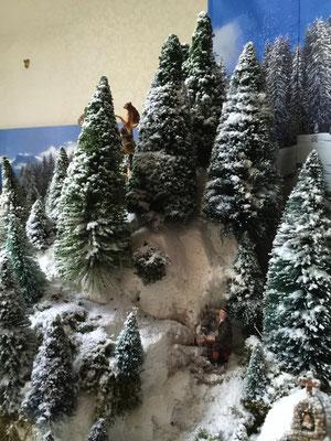 Village de Noël/Christmas Village 2014: Un peu de grimpette..