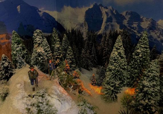Village de Noël/Christmas Village 2014 de nuit: Il était temps d'arriver en haut !