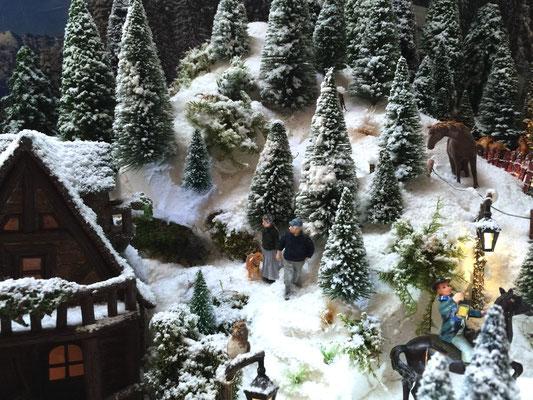 Village de Noël/Christmas Village 2014: En balade dans la neige