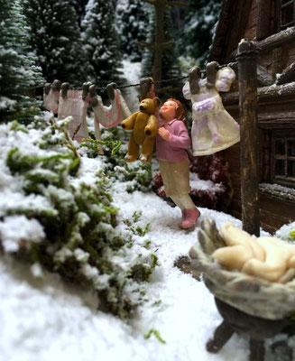 """Village de Noël/Christmas Village 2014: """"je veux mon doudou !"""""""